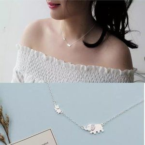 Jewelry - NEW 925 Sterling Silver Cute Elephant Necklace